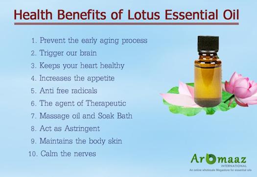 Health Benefits of Lotus Essential Oil