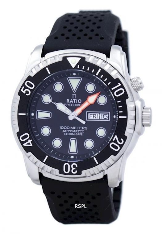 Ratio II Free Diver Helium-Safe 1000M Automatic 1068HA90-34VA-00 Mens Watch