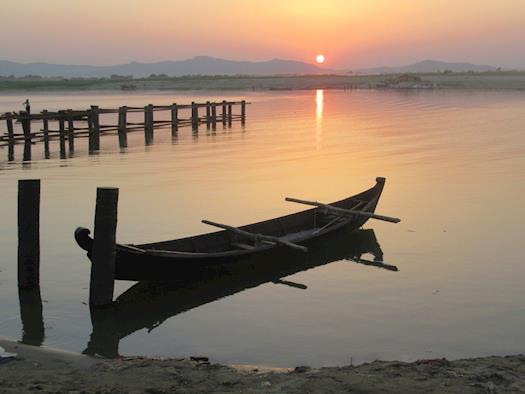 Sunset Over the Ayeyarwady