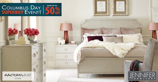 Columbus Day Event - Buy Bedroom Furniture at Jennifer Furniture