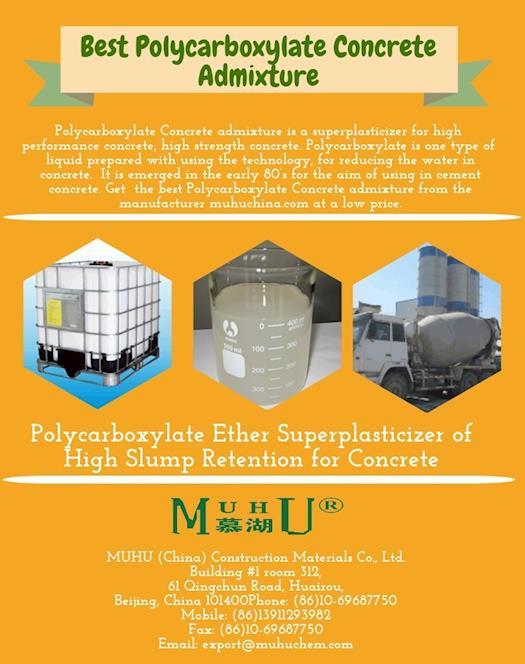 Best Polycarboxylate Concrete Admixture - MUHU China