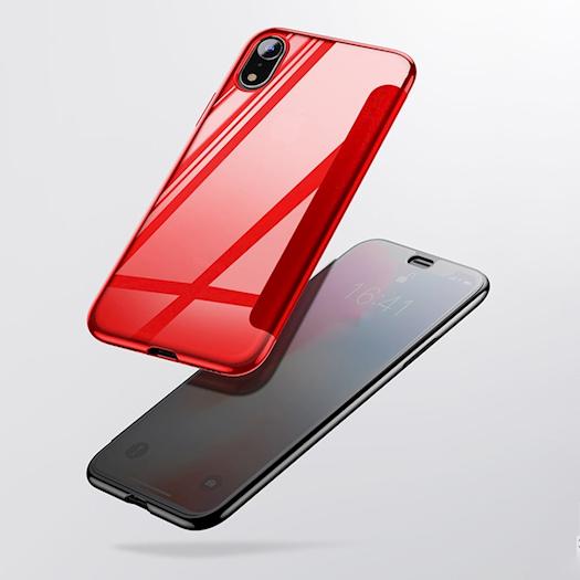 Luxury Tempered Glass iPhone Flip Case