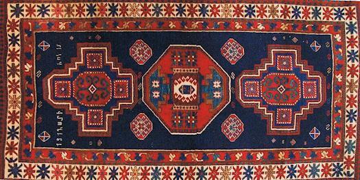 Old armenian carpet
