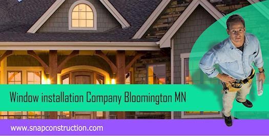 Window installation Company bloomington mn