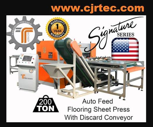 200 Ton Auto Feed Flooring Sheet Press with Discard Conveyor