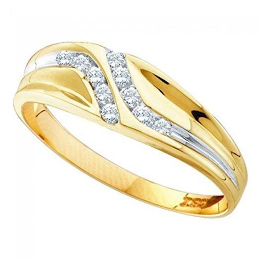 10K Gold Mens Wedding Band Ring