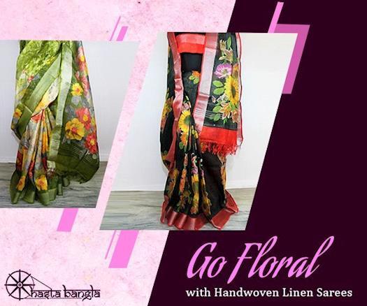 Handwoven Linen by Linen with Digital Print